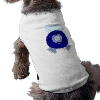 青いシェフのPom Pomの友達犬のティー ペット服