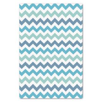 青いシェブロンパターンチィッシュペーパー 薄葉紙