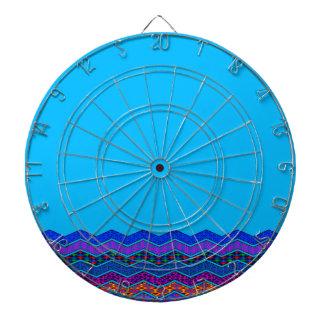 青いシェブロンパターン幾何学的設計色 ダーツボード