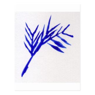 青いシダ ポストカード