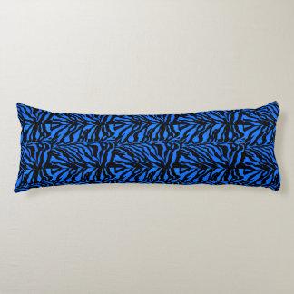 青いシマウマのストライプのアニマルプリントの抱き枕 ボディピロー
