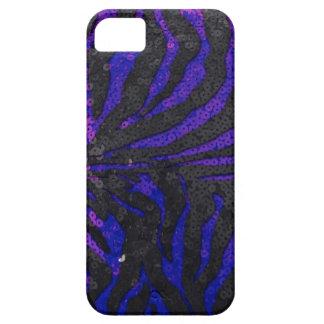 青いシマウマのスパンコール iPhone SE/5/5s ケース