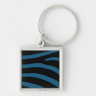 青いシマウマ キーホルダー