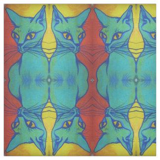 青いシャム猫 ファブリック