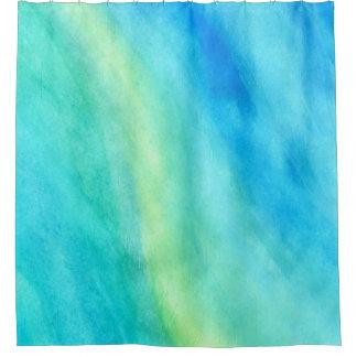 青いシャワー・カーテンで夢を見ること シャワーカーテン