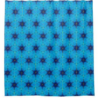 青いシャワー・カーテンの青 シャワーカーテン