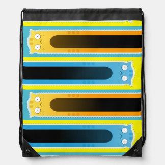 青いショウガ猫のストライプのなひものバックパック ナップサック