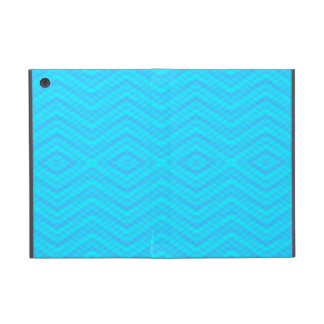 青いジグザグ形のダイヤモンドパターンiPad Miniケース iPad Mini ケース