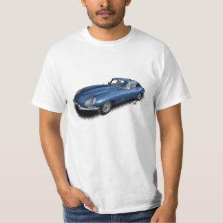 青いジャガーXKEのヴィンテージのスポーツ・カーのTシャツ Tシャツ