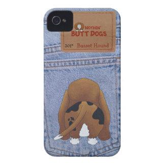 青いジーンのバセットハウンドのお尻 Case-Mate iPhone 4 ケース