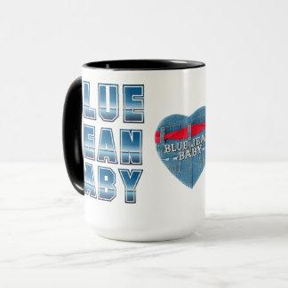 青いジーンのベビーのマグ マグカップ