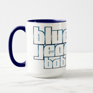 青いジーンのベビーの信号器のマグ マグカップ