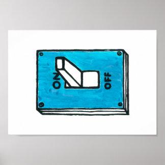 青いスイッチポスター ポスター