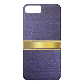 青いスエードの革皮の質のiPhone 7の箱 iPhone 8 Plus/7 Plusケース
