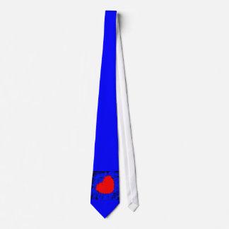青いスカルのいちごのハート オリジナルネクタイ