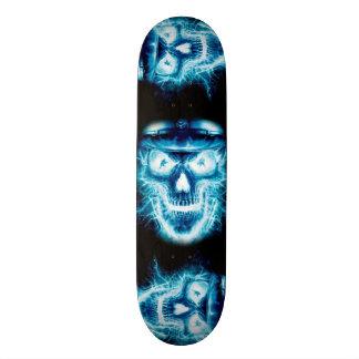 青いスカルの稲妻 スケートボード