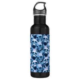 青いスカル ウォーターボトル