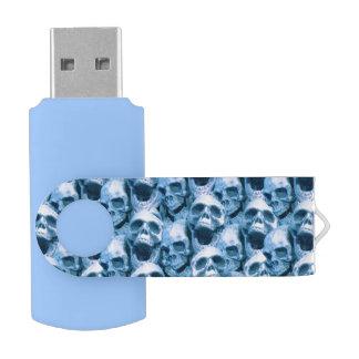 青いスカル USBフラッシュドライブ