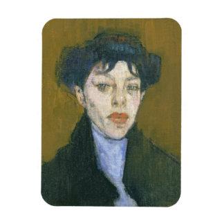 青いスカーフを持つ女性、c.1912 (キャンバスの油) マグネット