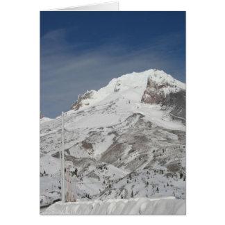 青いスキー季節 カード