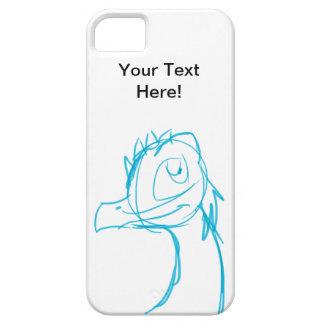 青いスケッチのドラゴンのファンタジーのデジタル漫画の芸術 iPhone SE/5/5s ケース