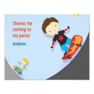 青いスケートボーダーありがとう カード