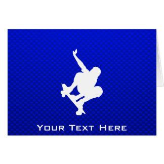 青いスケートボーディング グリーティングカード