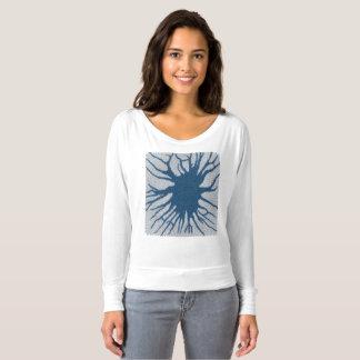 青いスターバスト Tシャツ
