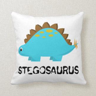 青いステゴサウルスの枕 クッション