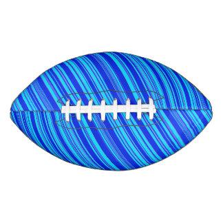 青いストライプのなお祝いのVernのfave アメリカンフットボール