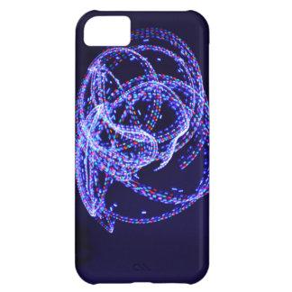 青いストロボのiphone 5の箱 iPhone5Cケース