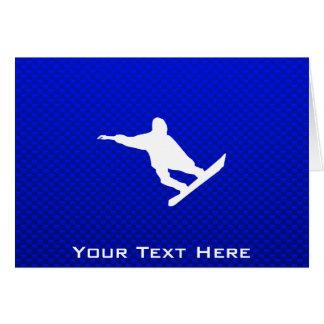 青いスノーボード カード