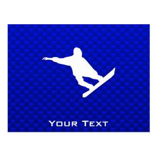 青いスノーボード ポストカード