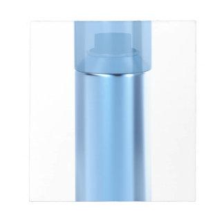 青いスプレーの缶 ノートパッド