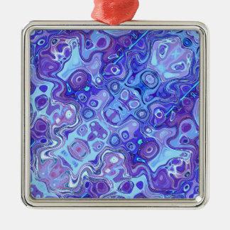 青いスペクトルの抽象芸術 メタルオーナメント