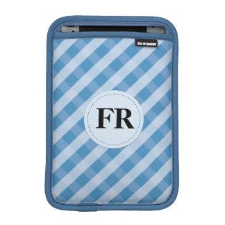 青いスラッシュパターンipadの小型袖 iPad ミニ スリーブ