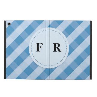 青いスラッシュパターンipadの空気箱 iPad airケース