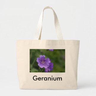 青いゼラニウム ラージトートバッグ