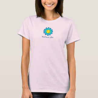青いソフトボールの女の子 Tシャツ