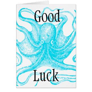 青いタコの幸運 カード
