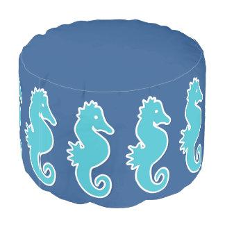 青いタツノオトシゴパターン プーフ