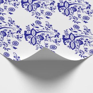 青いタマネギのスタイルの要素 ラッピングペーパー