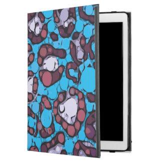 """青いターコイズのチータの抽象芸術パターン iPad PRO 12.9"""" ケース"""