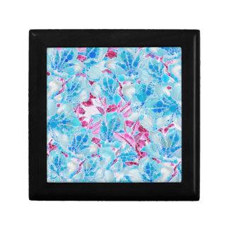 青いターコイズのピンクの抽象芸術の花 ギフトボックス