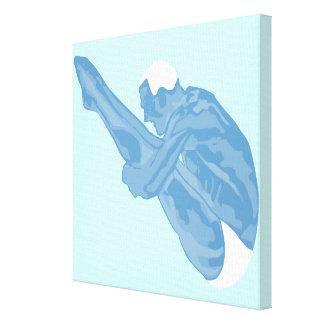 青いダイバーのキャンバスプリント キャンバスプリント