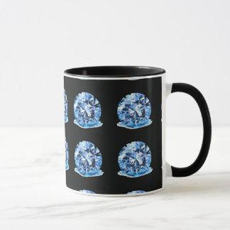 青いダイヤモンドのマグ マグカップ