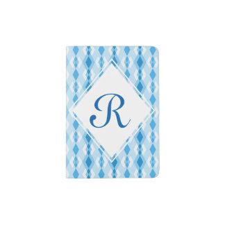 青いダイヤモンドのモノグラム パスポートカバー