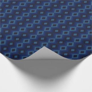 青いダイヤモンドの包装紙 ラッピングペーパー