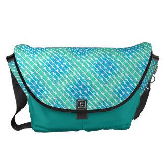 青いダイヤモンドの有刺鉄線のBarbのフェンシングのミントの緑 メッセンジャーバッグ