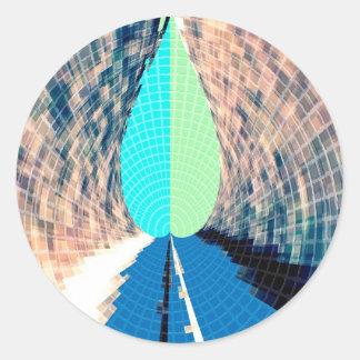 青いダイヤモンドの炎-すばらしい想像 ラウンドシール